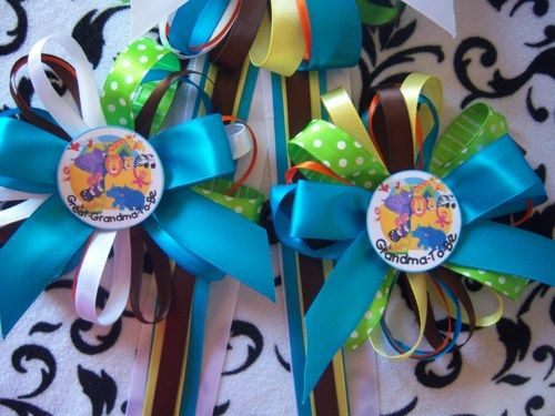 Baby Shower Guest Corsages Daddy Grandma Mommy To Be
