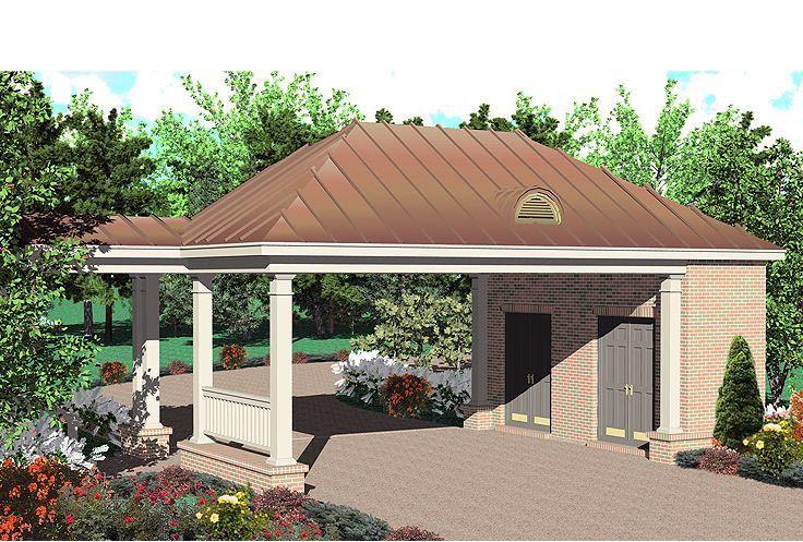 Garage Plan chp52202 Carport designs, Carport plans