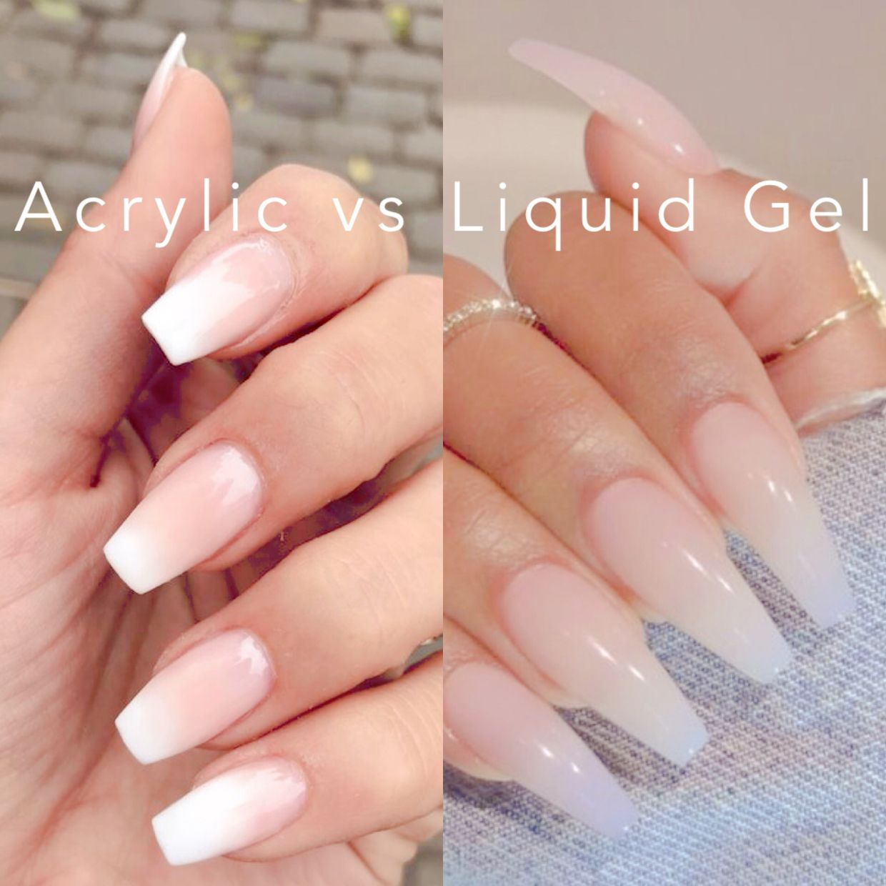 Acrylic Nails Vs Liquid Hard Gel Hard Gel Nails Liquid Gel Nails Gel Powder Nails