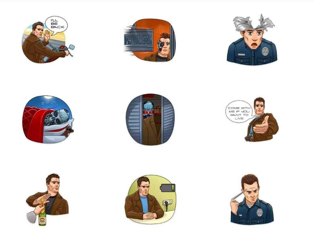 Terminator Whatsapp Sticker Pack Terminator Terminator Movies Stickers