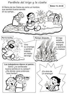 El Rincón de las Melli: HISTORIETA: Parábola del trigo y la cizaña