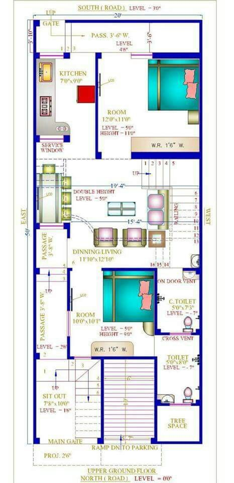 20x50 With Basement Basement House Plans Indian House Plans Model House Plan
