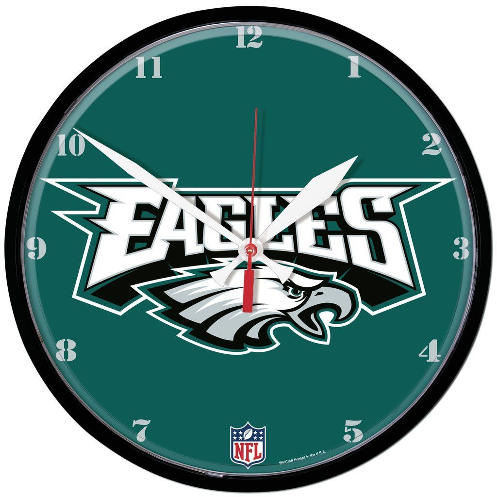 Eagles nfl wall clock eagles nfl wall clocks and team logo eagles nfl wall clock amipublicfo Gallery