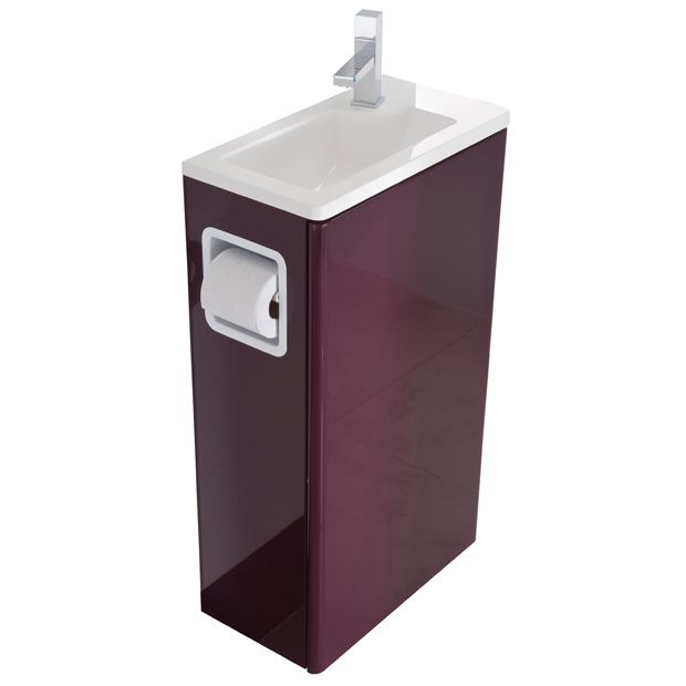 Ensemble lave mains glossy les lave mains lapeyre for Meuble pour toilette castorama