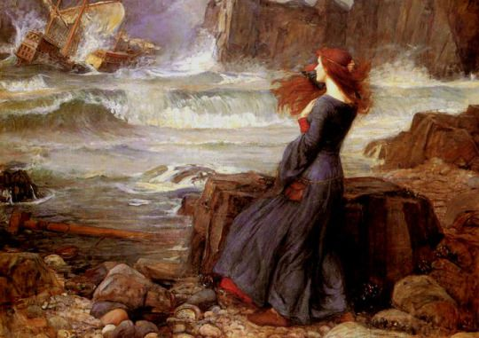 Miranda - The Tempest : John William Waterhouse.  L'Assommoir