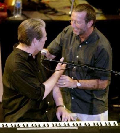 Brian Wilson and Eric Clapton