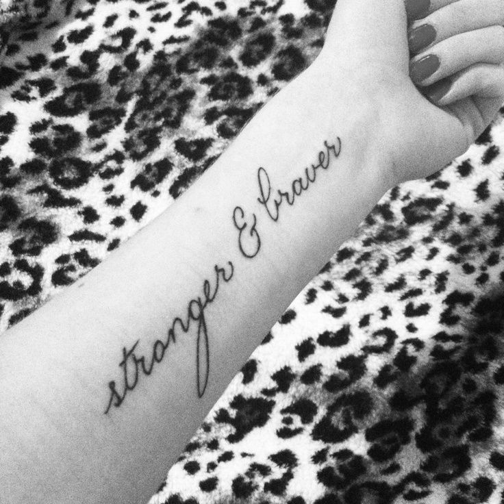 "Overcoming Depression Tattoo: I Got This ""stronger & Braver"" Tattoo To Remind Myself"