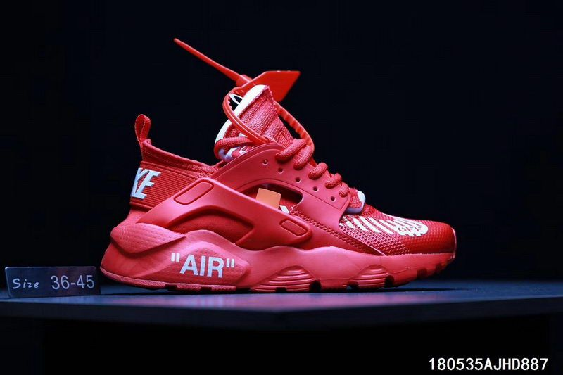 ab72f7c97f9a Men Women Off White x Nike Air Huarache Shoes Red - http   www