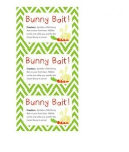 image relating to Bunny Bait Printable referred to as Chevron Bunny Bait printable labels The Kitchen area Prep