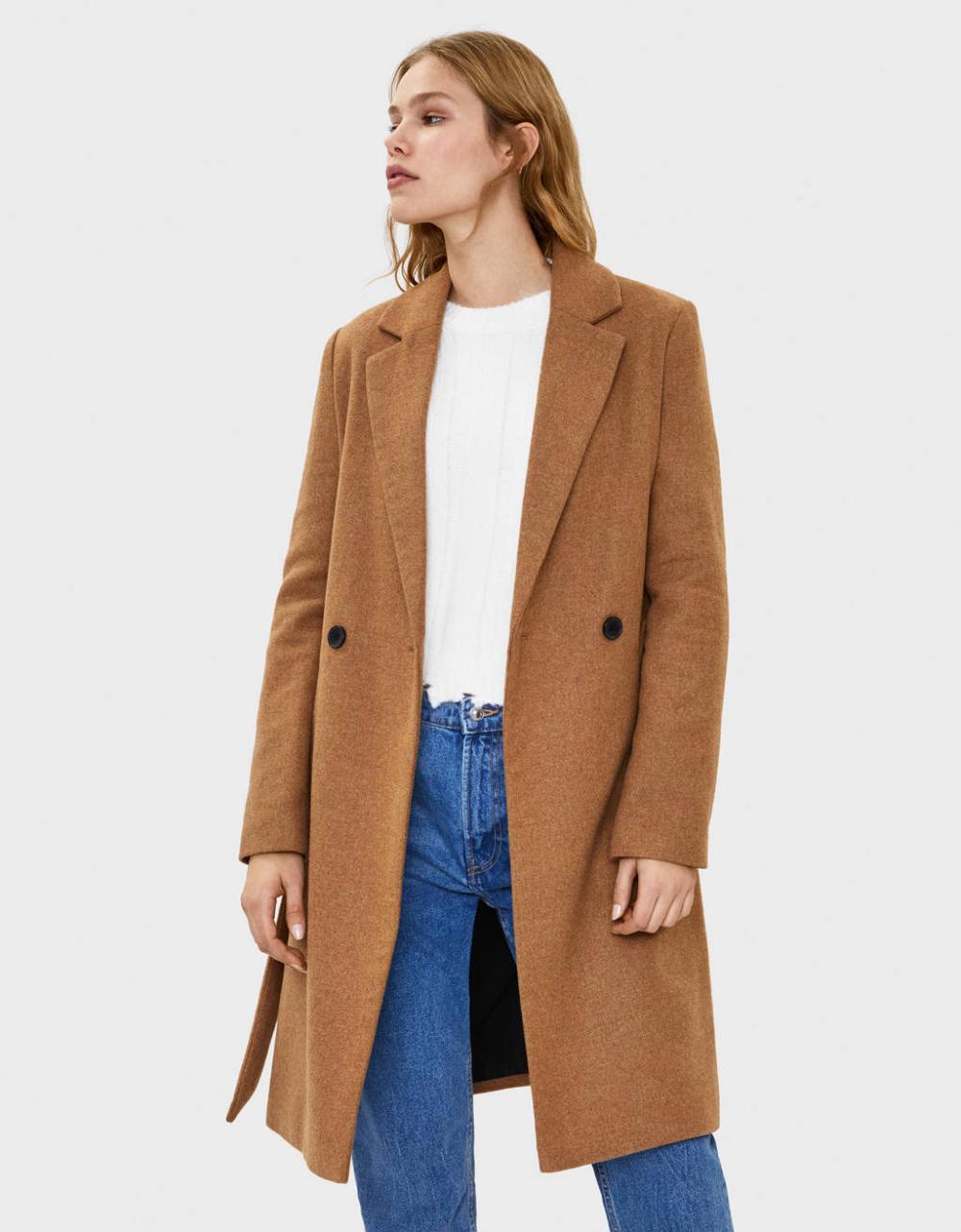 Wool Coat With Belt Jackets Coats Bershka Czech Republic Wool Coat Coat Belted Jacket [ 1282 x 1000 Pixel ]