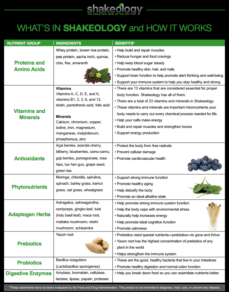 Shakeology Fact Sheet  Google Search  Shakeology
