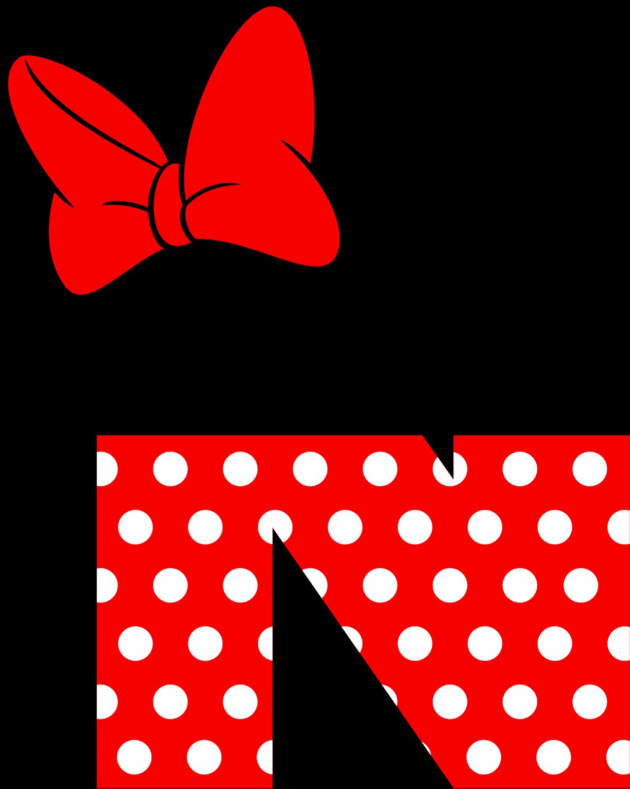 Minnie Mouse Letters Alphabet