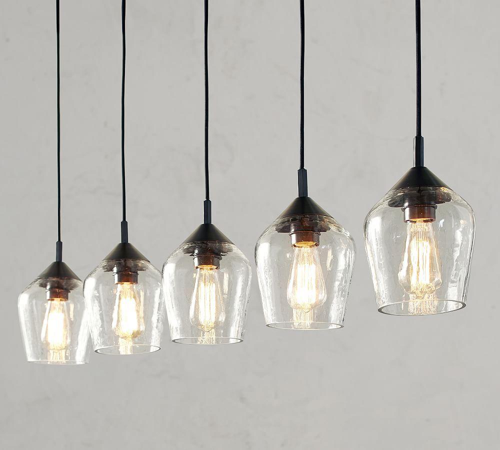 Donovan Glass 5 Light Pendant At Pottery Barn Pendant Light