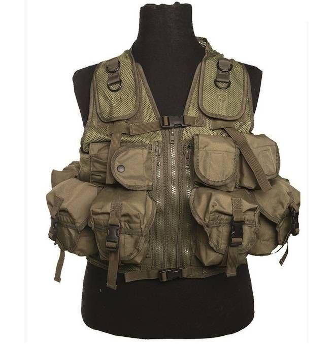 Mil-Tec Einsatzweste Tactical, 9-Taschen, oliv / mehr Infos auf: www.Guntia-Militaria-Shop.de