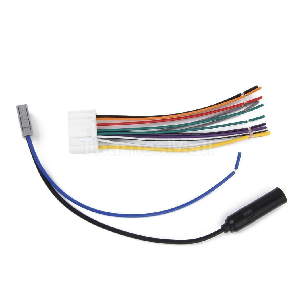 38 Car Stereo Radio Audio Wiring Harness Cable With Fm Antenna Product For Nissan Versa