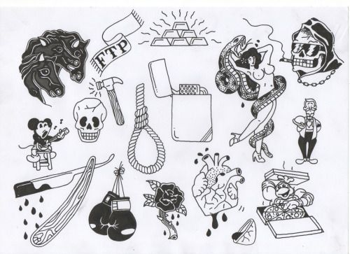 tumblr tattoo flash - Google Search | Flash | Pinterest | Tattoos ...