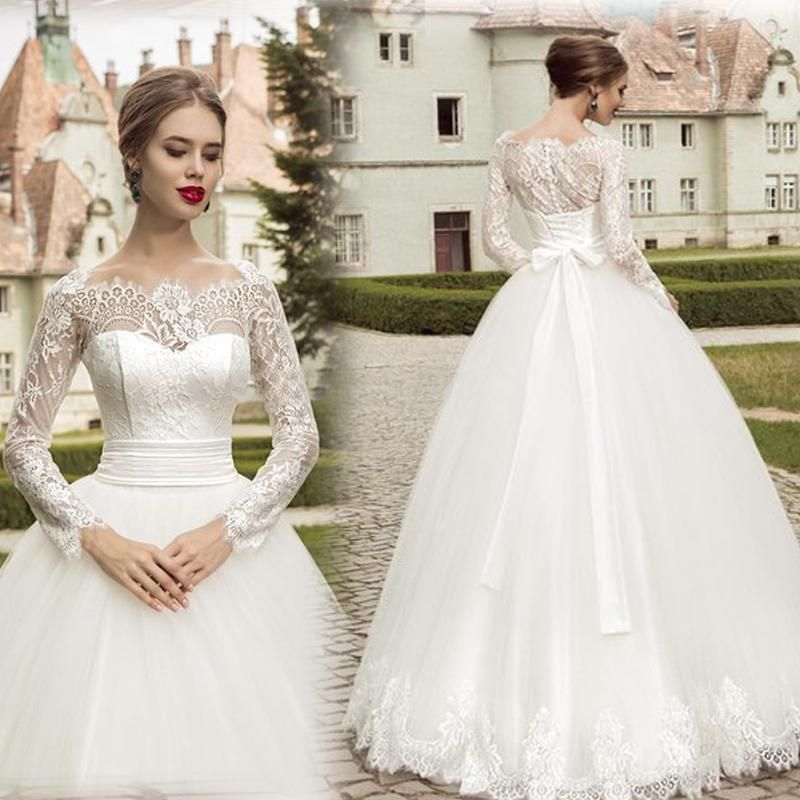 Spring Brand New Design Vintage Wedding Dresses with Lace Long ...
