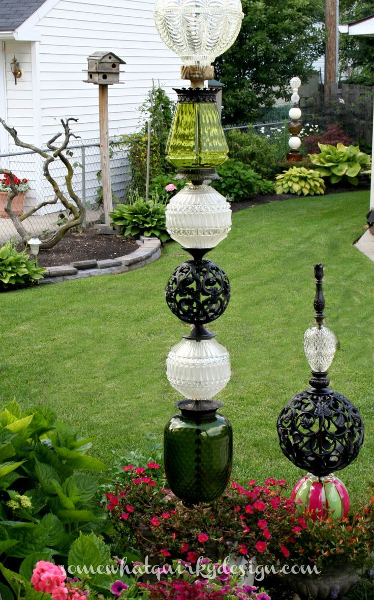Somewhat Quirky How To Build A Glass Globe Totem Crafty