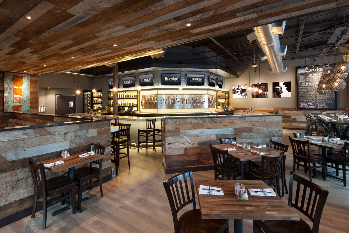 Authentic brand centric restaurant design vibrant interior finishes with modern industrial styling