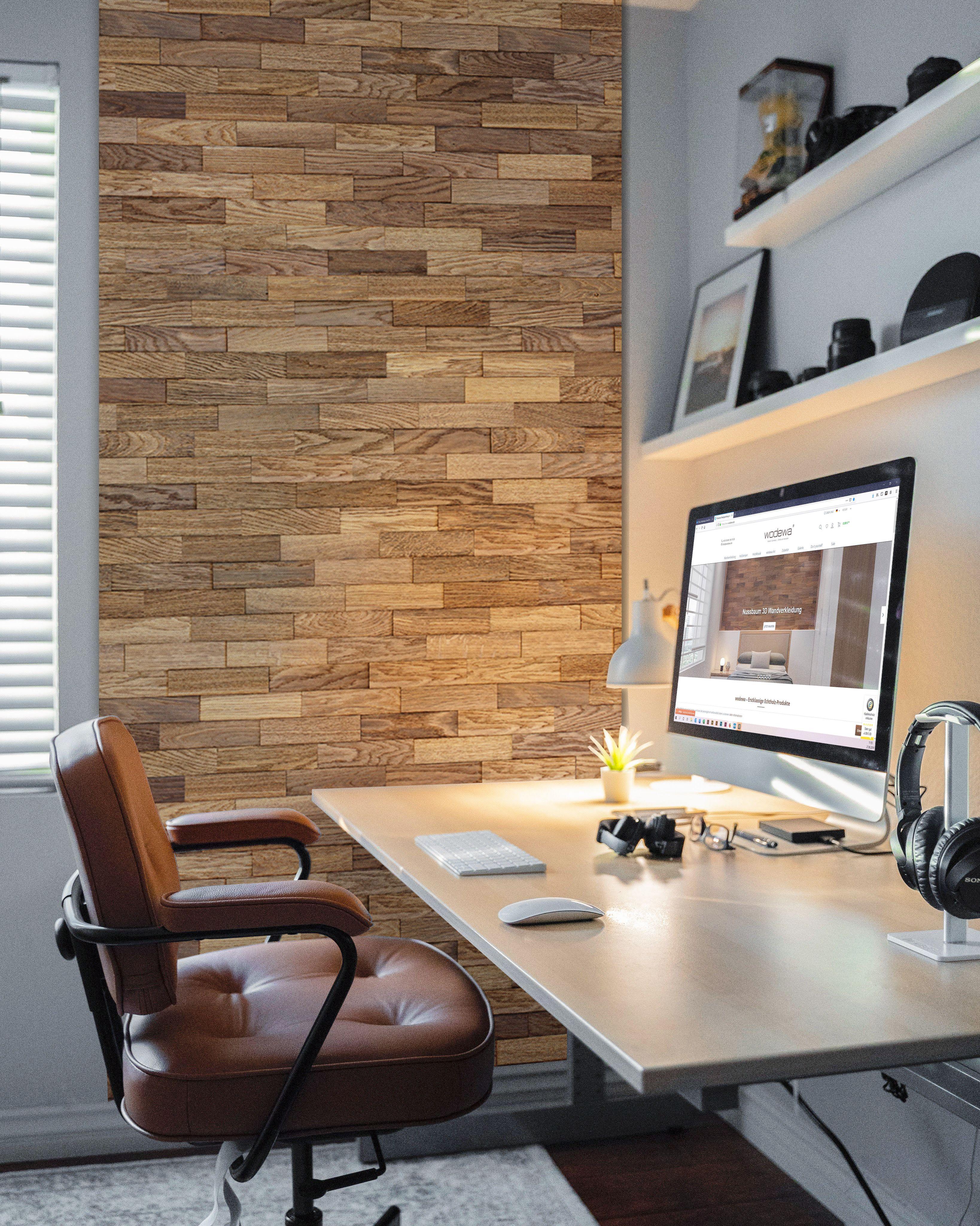 Wodewa 200 Holzwandverkleidung Wandpaneele Eiche Tabak Natur In 2020 Wandgestaltung Wohnzimmer Holz Holzwandverkleidung Wandverkleidung Holz