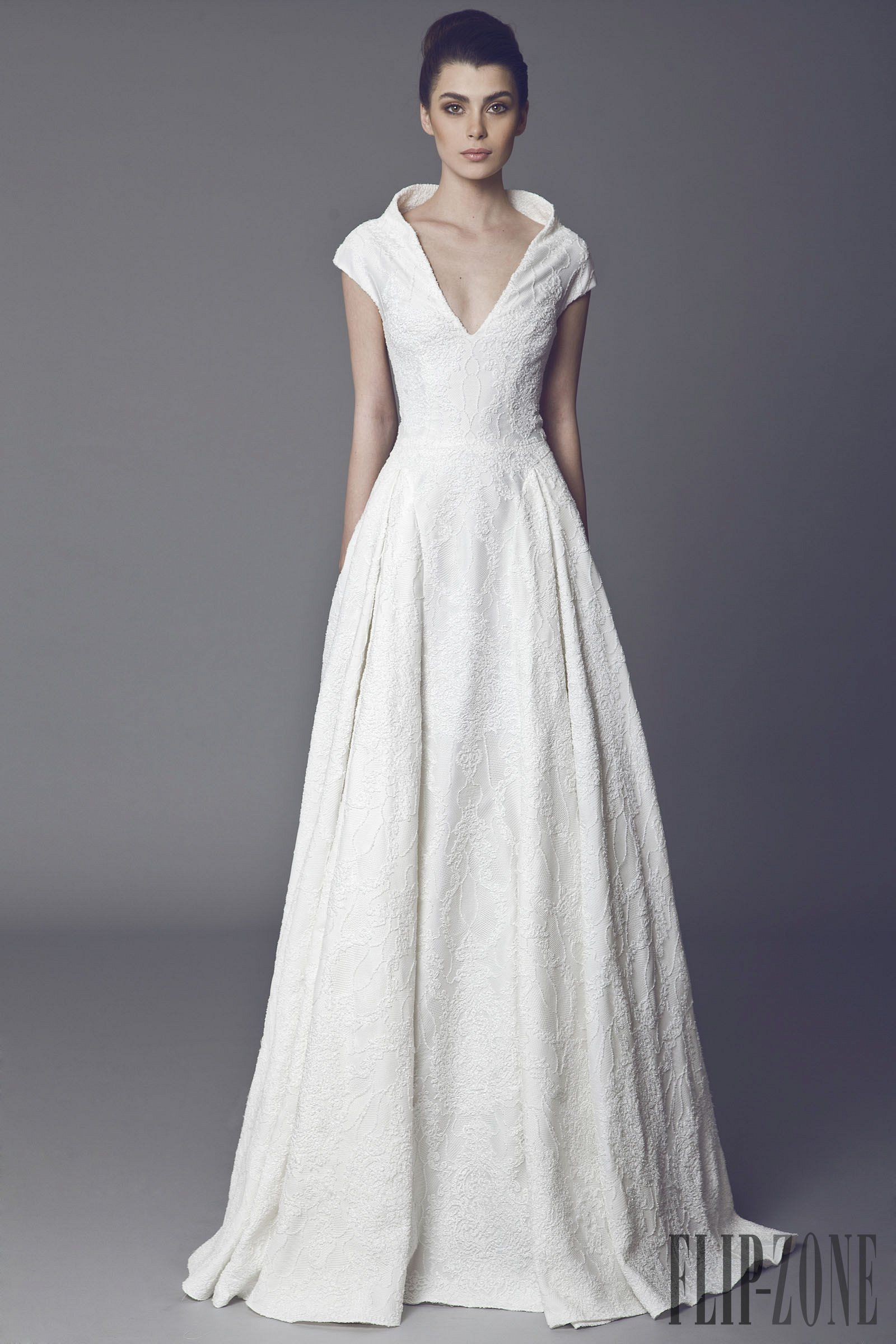 Wedding dress with collar  Tony Ward  collection  Bridal  Wedding  Pinterest  Tony ward