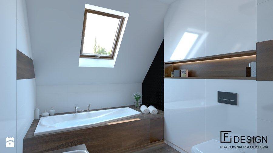 Biała łazienka Z Drewnianą Podłogą łazienka łazienka