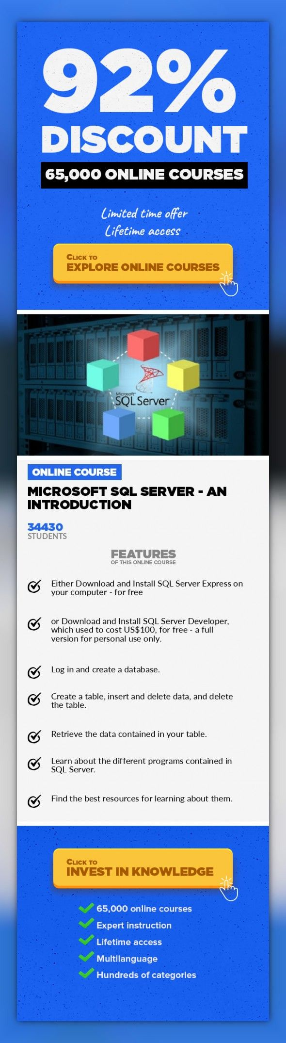 Microsoft Sql Server An Introduction It Certification It
