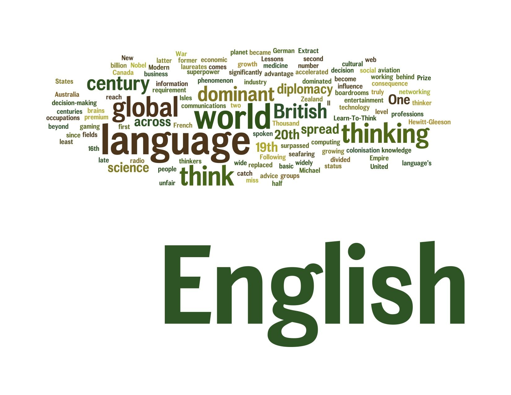 importance of english as a language used in the fields of science and technology There are many reasons to learn english english is the most commonly used language among foreign is so important is that it is the language of science.