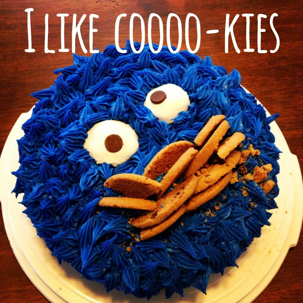 Cookie monster cake for roberts bdaylol cookie