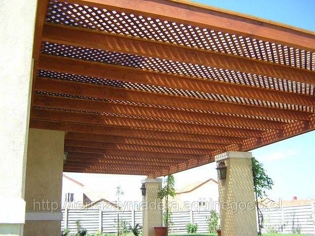 Cobertizos de madera p rgolas cobertizos y terrazas for Cobertizo de jardin moderno de techo plano