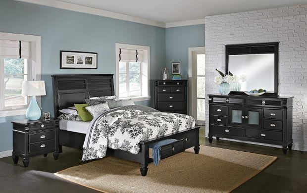 Charleston Bay Black Ii Bedroom Collection  Value City Furniture Best Value City Furniture Bedroom Sets 2018