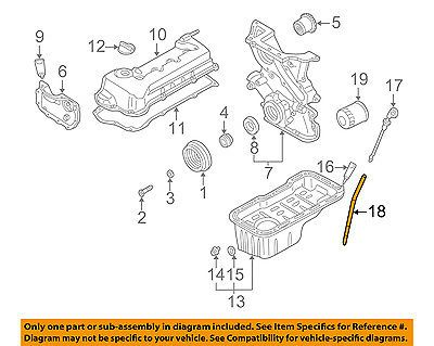 Nissan 04 06 Sentra Engine Parts Guide Tube 111504z000 Car Truck
