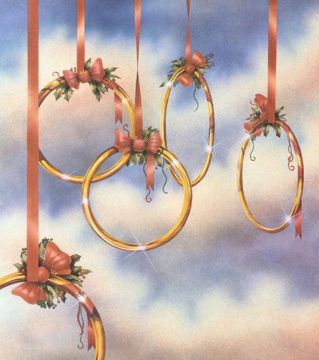 The Twelve Days of Christmas 5 Golden Rings [hanging