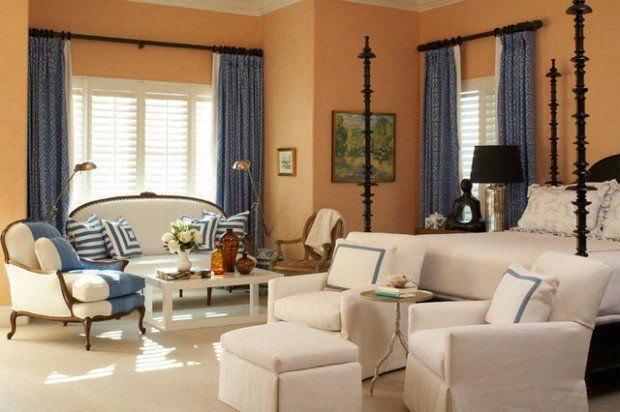Peach Walls What Color Curtains Curtains Living Room Interior