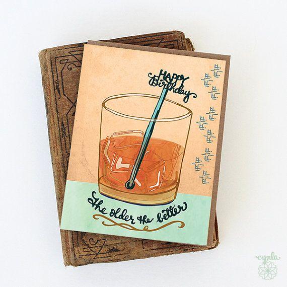 Whiskey Birthday Sign Printed or Printable Masculine Birthday Poster Whiskey Years Whiskey Lovers