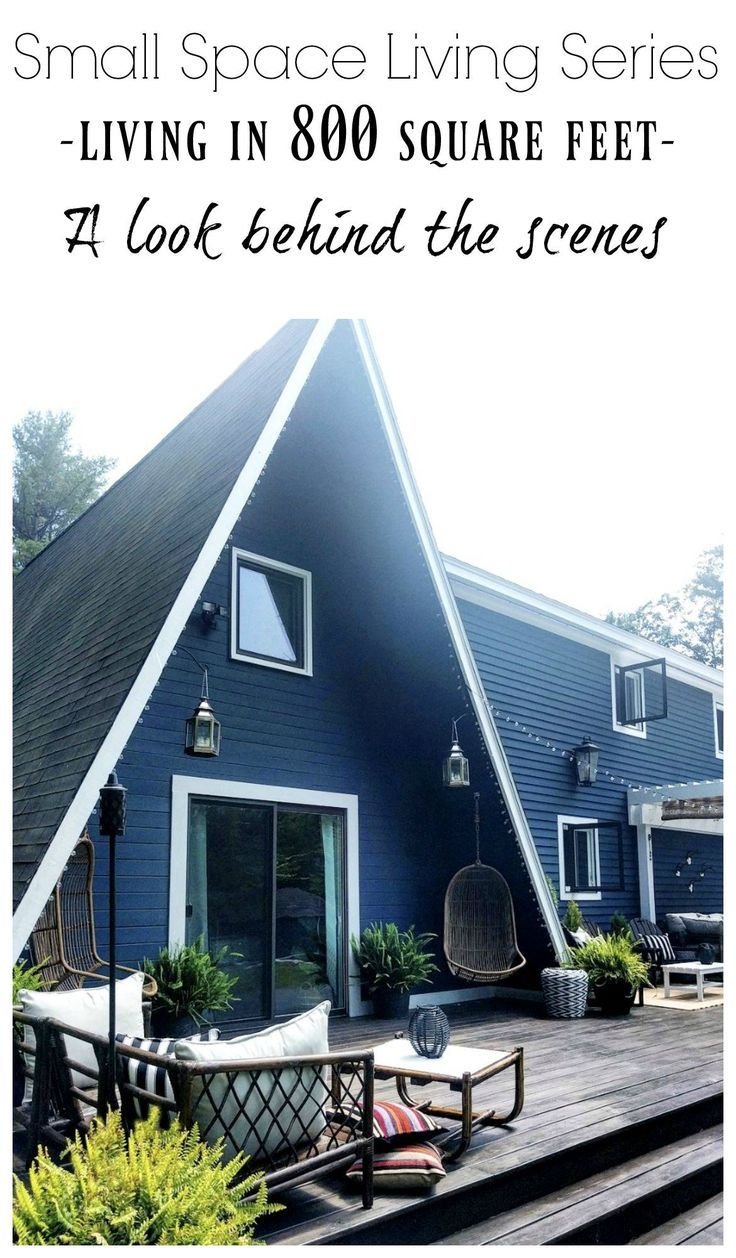 Small Space Living Series 800 Square Foot AFrame Home  Nesting With Grace Come see this amazing Aframe cottage simply and efficiently decorated on our small space living...