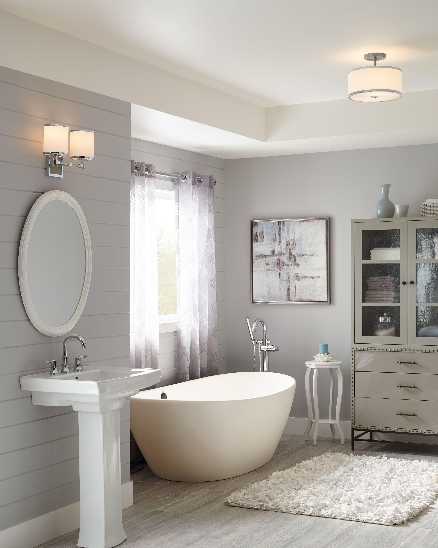 Bathroom Light Fixtures Guide Adding Ambient Overhead Light In The Bathroom Lightsonline Co Best Bathroom Lighting Bathroom Lighting Modern Bathroom Design
