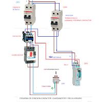 Conexion Contactor Guardamotor Y Reloj Horario Esquemas Electricos Instalación Electrica Diagrama De Instalacion Electrica