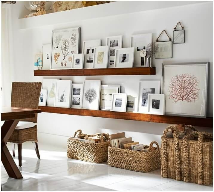 15 Creative Ways to Display Your Picture Frames 3 Home Decor