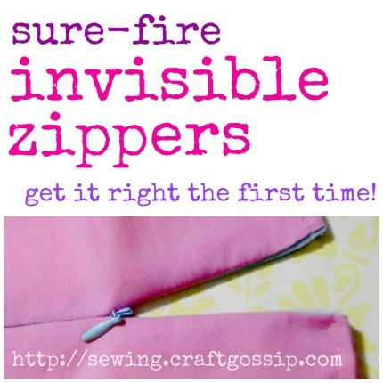 Tutorial: Sure-Fire Invisible Zippers, right the first time