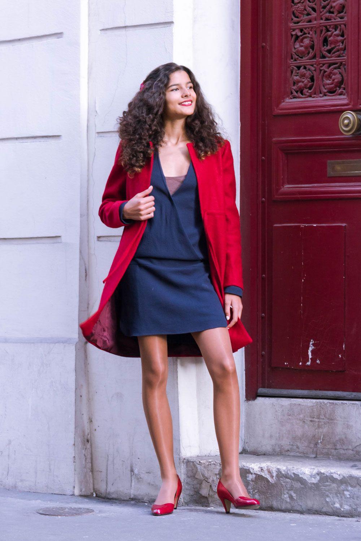 5131bf07611 Sangbarani  Manteau en laine rouge