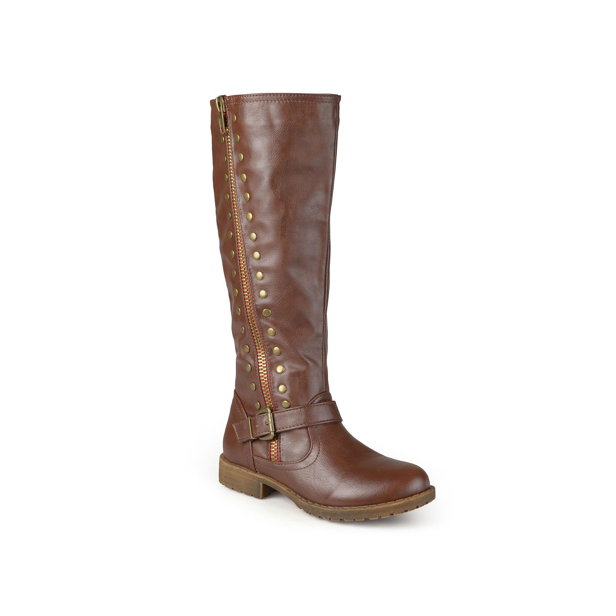 503a93df29a Journee Collection Women s Studded Knee-High Riding Boots. Wide Calf ...