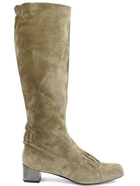294.95 - Roger Vivier Boots - Putty Suede Tall Boots   WishLIST ... bb6030c58ad3