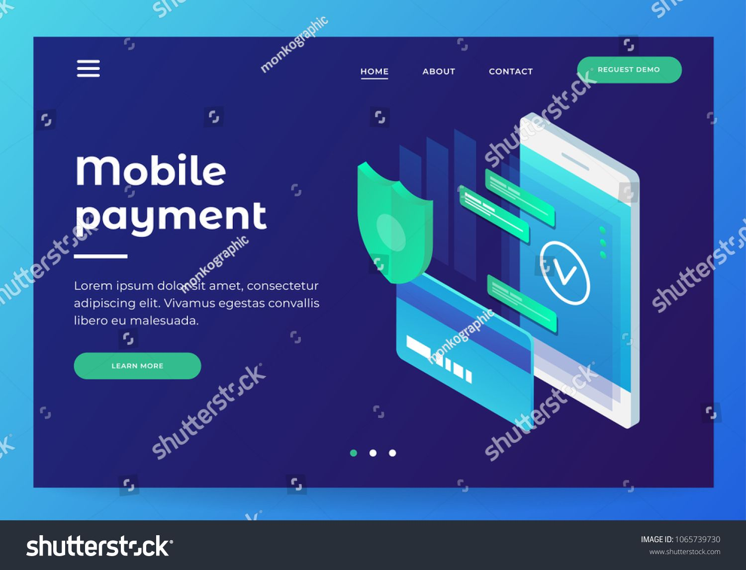Concepts Mobile Payments Personal Data Protection Header For
