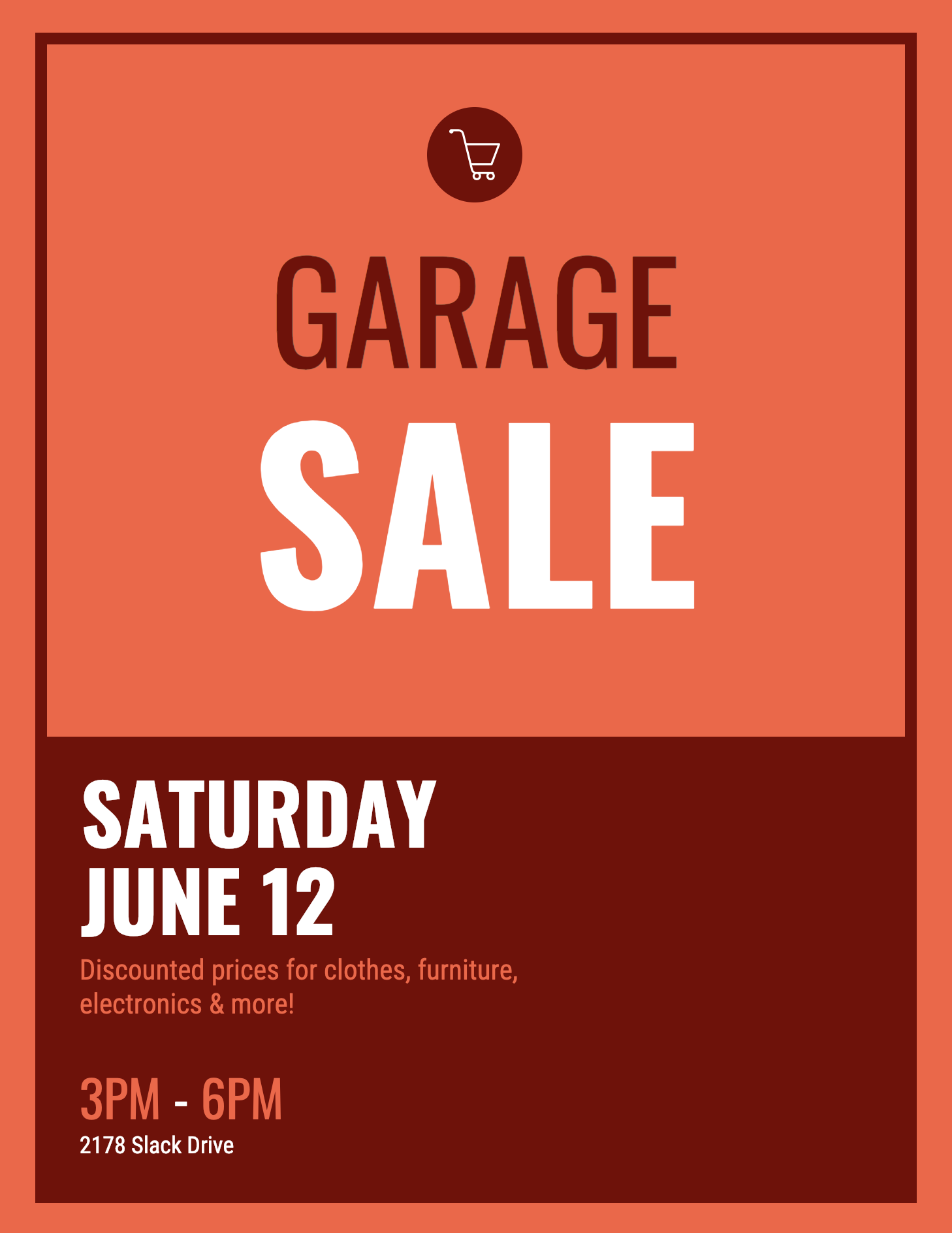 Garage Sale Event Poster Event Poster Template Event Poster Poster Template
