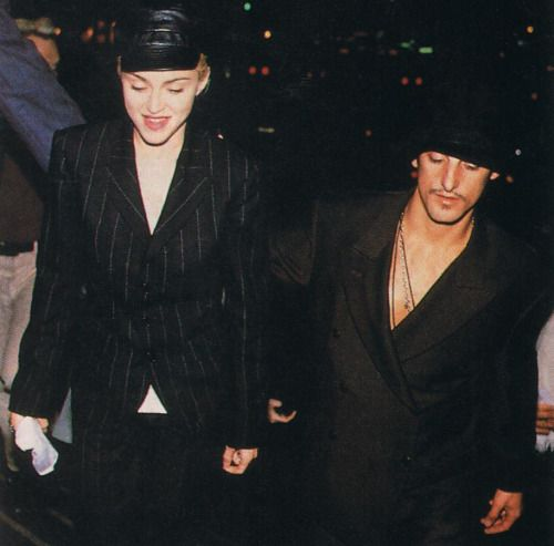 Madonna '90 with Mr. Ward.