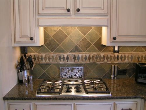stone kitchen backsplash - Google Search