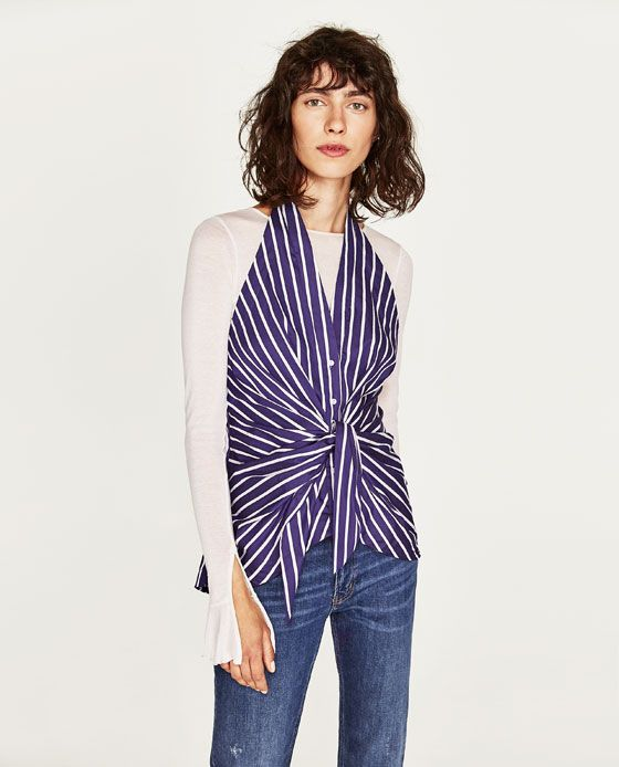 add456aaf52a25 Image 6 of STRIPED TOP from Zara