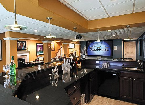 basement bar | mancave/ bars | pinterest | basements, bar and huge tv