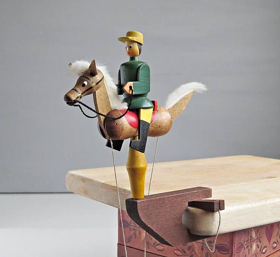 Erzgebirge Pendulum Horseman  Modern Vintage Erzgebirge